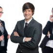 Stock Photo: Group of happy business
