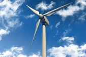 Turbina de vento no céu azul — Fotografia Stock