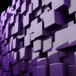 Abstract 3d cubes in purple - Stock Photo
