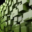 Abstract 3d cubes in green — Lizenzfreies Foto