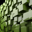 Abstract 3d cubes in green — Stockfoto