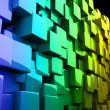 Abstract colorful 3D cubes - Stock Photo