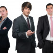Group of cheerful business — Stock Photo