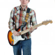 Young trendy guitarist — Stock Photo