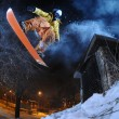 Royalty-Free Stock Photo: Jumping snowboarder