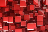 Abstract red 3D cubes — Stock Photo