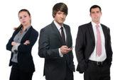 性格开朗的企业集团ομάδα χαρούμενα εργασιων — 图库照片