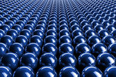 Abstract 3d blue spheres — Stock Photo