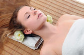 Woman waiting for a massage — Stock Photo