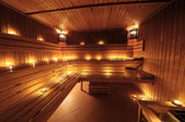 Finnish sauna — Stock Photo