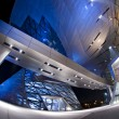 Futuristic BMW Welt building located in Munich, Germany - Stock Photo