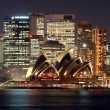 Sydney Opera House at night - Zdjęcie stockowe