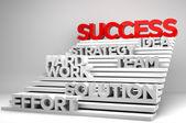 Trap naar succes 3d — Stockfoto
