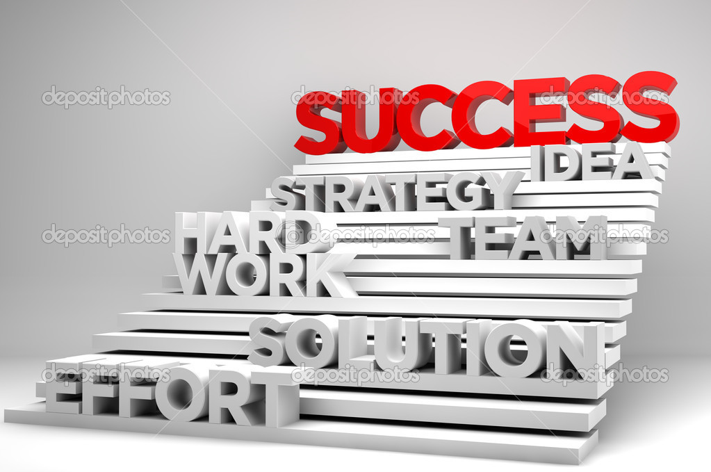 Stairway to success concept — Stock Photo #5303957