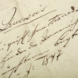 Foto Stock: Old hand written letter
