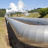 Tuberías de la planta de energía geotérmica — Foto de Stock