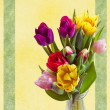 Stock Photo: Easter card with tulips