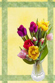 Easter card with tulips — Stock Photo