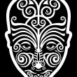 Stock Vector: Maori face tattoo