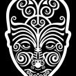 Maori face tattoo - Stock Vector