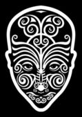 Maori face tattoo — Stock Vector
