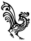 Ornamental rooster — Stock Vector