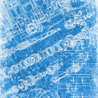 Royalty-Free Stock Photo: Grunge blueprint texture