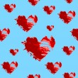 Hearts seamless pattern - Stockvectorbeeld