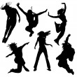 Dancing silhouettes — Vector de stock #4983725