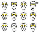 Cartoon character avatars — Stock Vector