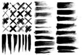 Brushes & cross marks — Stockvektor