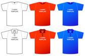 Modello di t-shirt — Vettoriale Stock