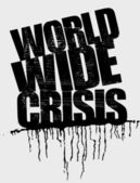 World wide crisis headline — Stock Vector