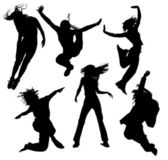 Dancing silhouettes — Vector de stock