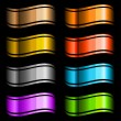 Set of color glossy ribbons — Stock Vector