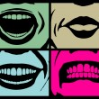Mouth expressions — Stock Vector