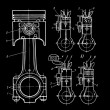 Royalty-Free Stock Vector Image: Blueprints of pistons