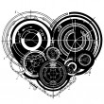 Art illustration of heart — Stock Vector