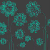 Hand drawn flowers — Stock Vector