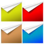 Set of wallpapers with curled corners — Stock Vector