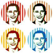 Obama illustrations — Stock Vector