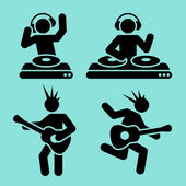 Music pictograms — Stock Vector
