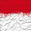 Stock Photo: Crushed white sheet with red ink stains