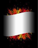 Illustratie van kleurrijke achtergrond met verschillende bladeren — Stockvector