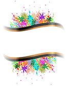 εικόνα της πολύχρωμα φόντο με διαφορετικά φύλλα — Διανυσματικό Αρχείο