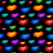 Stock Photo: Seamless wallpaper with color hearts
