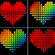 Pixel hearts — Stock Photo