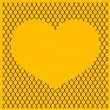 Chain link fence with heart — Stock Photo