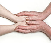 From a hand in a hand — Stock Photo