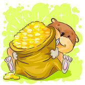 Funny hamster — Stock Vector